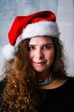 Mulher do Natal feliz imagem de stock