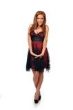 Mulher do Oriente Médio bonito no vestido formal Imagem de Stock