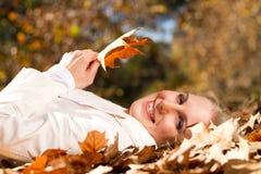 Mulher do outono Foto de Stock