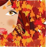 Mulher do outono ilustração stock