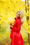 Mulher do outono imagem de stock