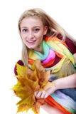Mulher do outono Composição bonita Fotografia de Stock Royalty Free