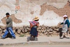 Mulher do Peru Foto de Stock Royalty Free