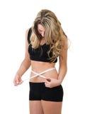mulher do peso da perda Fotografia de Stock Royalty Free