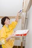 Mulher do pintor Imagem de Stock Royalty Free