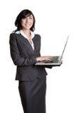Mulher do portátil fotografia de stock