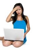 Mulher do portátil Fotos de Stock Royalty Free