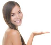 Mulher do produto do tratamento da beleza Imagem de Stock
