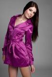 Mulher do Raincoat imagens de stock royalty free