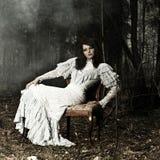 Mulher do retrato fotografia de stock
