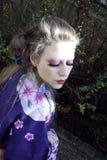 A mulher do retrato com à moda compo Imagens de Stock Royalty Free