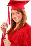 Mulher do retrato da graduação fotos de stock