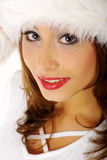 Mulher do retrato do inverno Fotografia de Stock Royalty Free