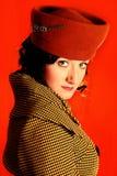 mulher do Retro-estilo Imagens de Stock