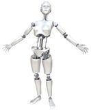 Mulher do robô ilustração do vetor