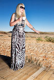 Mulher do safari fotos de stock