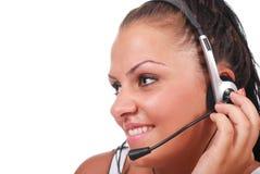 Mulher do serviço de atenção a o cliente Imagem de Stock Royalty Free