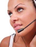 Mulher do serviço de atenção a o cliente Imagens de Stock Royalty Free