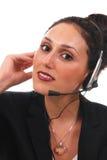 Mulher do serviço de atenção a o cliente Fotos de Stock Royalty Free