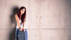 Mulher do skater Fotografia de Stock