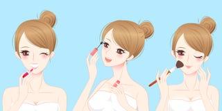 Mulher do skincare da beleza dos desenhos animados Fotografia de Stock