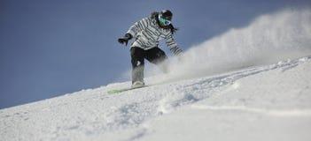 Mulher do Snowboard Imagem de Stock Royalty Free