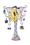 Mulher do Statuette com as asas penduradas com jeweled fotografia de stock royalty free