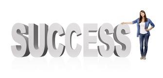 Mulher do sucesso imagens de stock