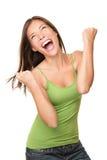 Mulher do sucesso do vencedor Fotografia de Stock Royalty Free
