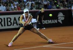 Mulher do tênis na ação Foto de Stock