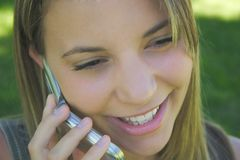 Mulher do telefone imagem de stock royalty free