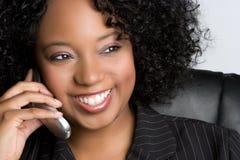 Mulher do telefone fotografia de stock