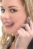 Mulher do telefone de pilha Imagens de Stock