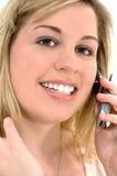 Mulher do telefone de pilha Imagem de Stock Royalty Free