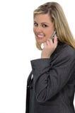 Mulher do telefone de pilha Fotografia de Stock