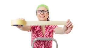 Mulher do trabalhador Imagem de Stock