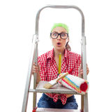 Mulher do trabalhador da casa Imagens de Stock