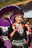 Mulher do tribo do monte de Hmong. Imagens de Stock