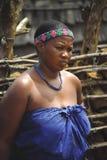 Mulher do tribo Zulu Fotos de Stock