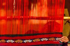 Mulher do tricoteiro em Marrocos Fotografia de Stock