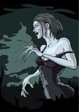Mulher do vampiro ilustração stock