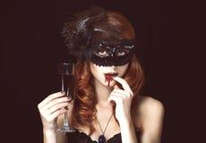 Mulher do vampiro fotos de stock