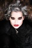 A mulher do vampiro, o Dia das Bruxas compõe foto de stock royalty free