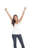Mulher do vencedor/sucesso Fotografia de Stock Royalty Free