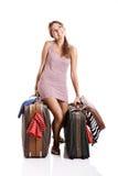 Mulher do viajante Foto de Stock
