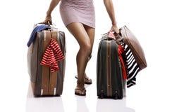 Mulher do viajante imagens de stock
