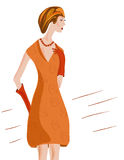 Mulher do vintage ilustração royalty free