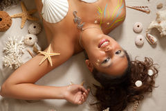 Mulher do zodíaco de Pisces Foto de Stock