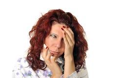Mulher doente imagens de stock