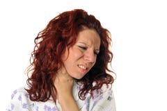 Mulher doente foto de stock